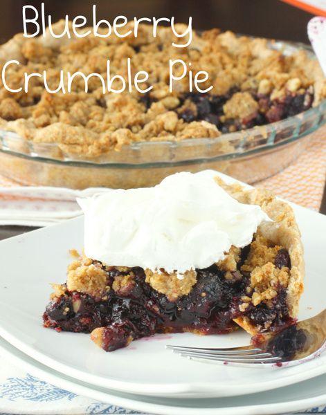 whole wheat blueberry crumble pie | Recipes | Pinterest
