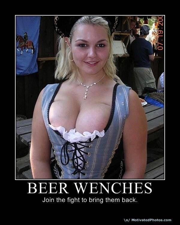 Busty german bar maids girls having