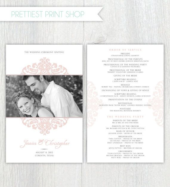 Printable Wedding Program Wedding Pinterest