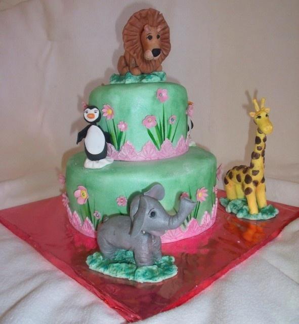 Cake Decoration Zoo : zoo animal cake Food-Cake Decorating Ideas Pinterest