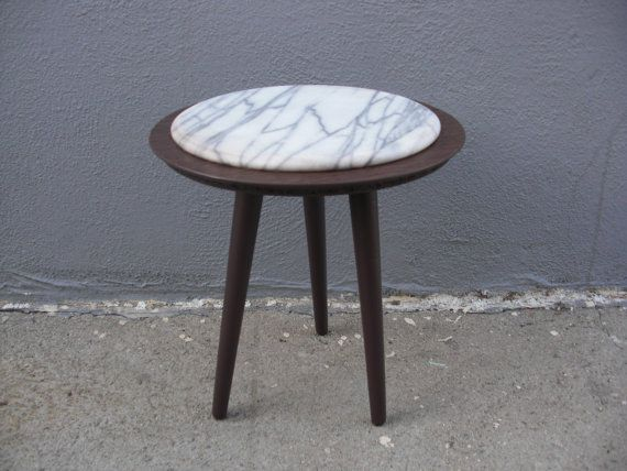 Round Side Table Mid Century Modern