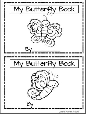 Transformative image throughout butterfly life cycle printable book
