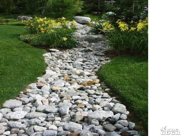 River Bed In Backyard : Dry river bed  Exterior Paint  Rock  Landscape Ideas  Pinterest