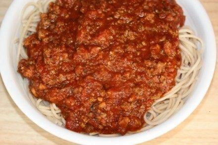 easy crock pot spaghetti sauce recipe | dinner Ideas | Pinterest