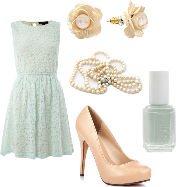 Mint and Nude Elegance, created by likaschaaf on Polyvore
