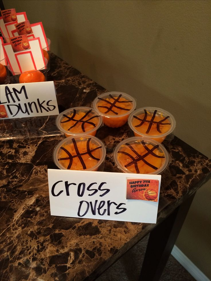 Basketball theme food for Basketball craft party ideas