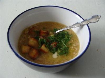 When I'm bored I make soup: Leek and Oatmeal soup