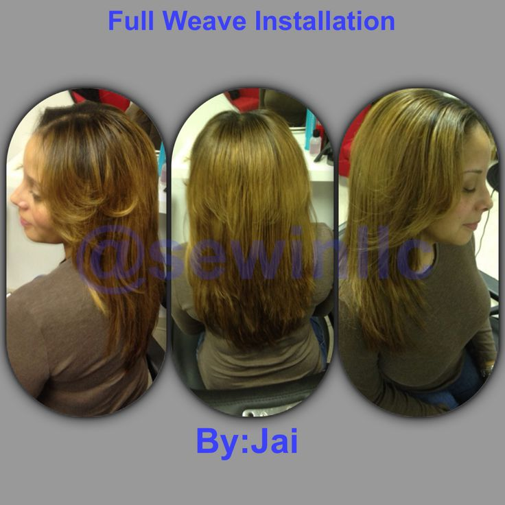 Full Weave Blonde Color Hair By:Jai Sew-Ins Salon Laurel,Md www.sew ...