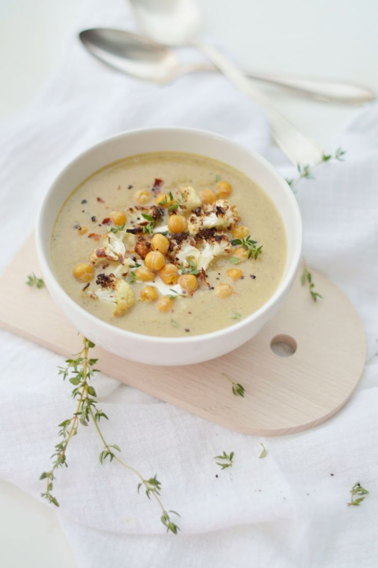 ... flower: hearty roasted cauliflower & chickpea soup | Soup | Pinterest
