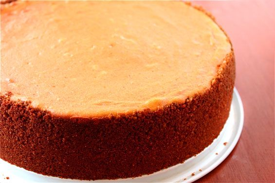 Pumpkin Cheesecake with Gingersnap Crust | Recipe