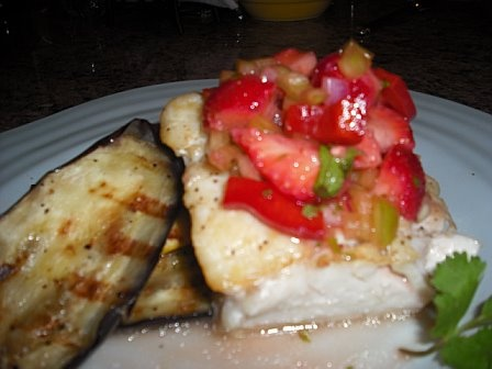 Halibut with strawberry salsa recipe