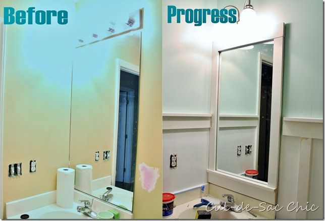 Mirror Decoration frame builder grade mirror : Frame a Builder Grade Mirror : happy home : Pinterest
