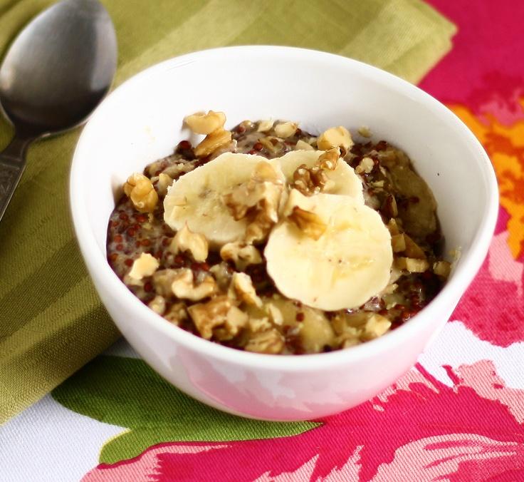 Banana - Nut Cereal | vegetarian | Pinterest