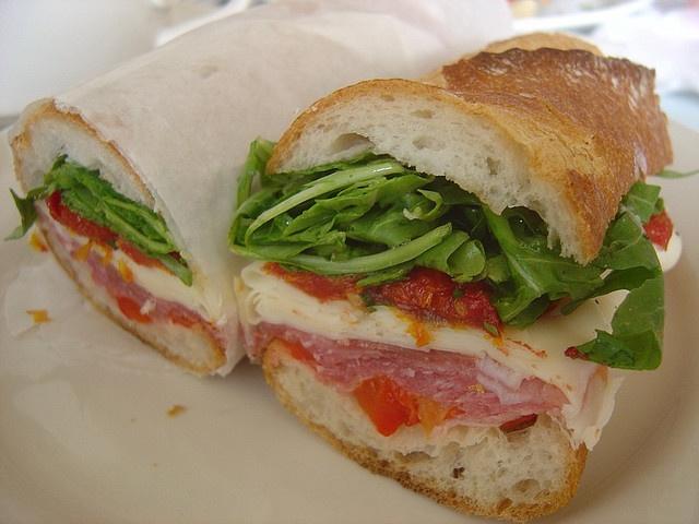 Prosciutto Sandwich - prosciutto, asiago, sundried tomatoes, roasted ...