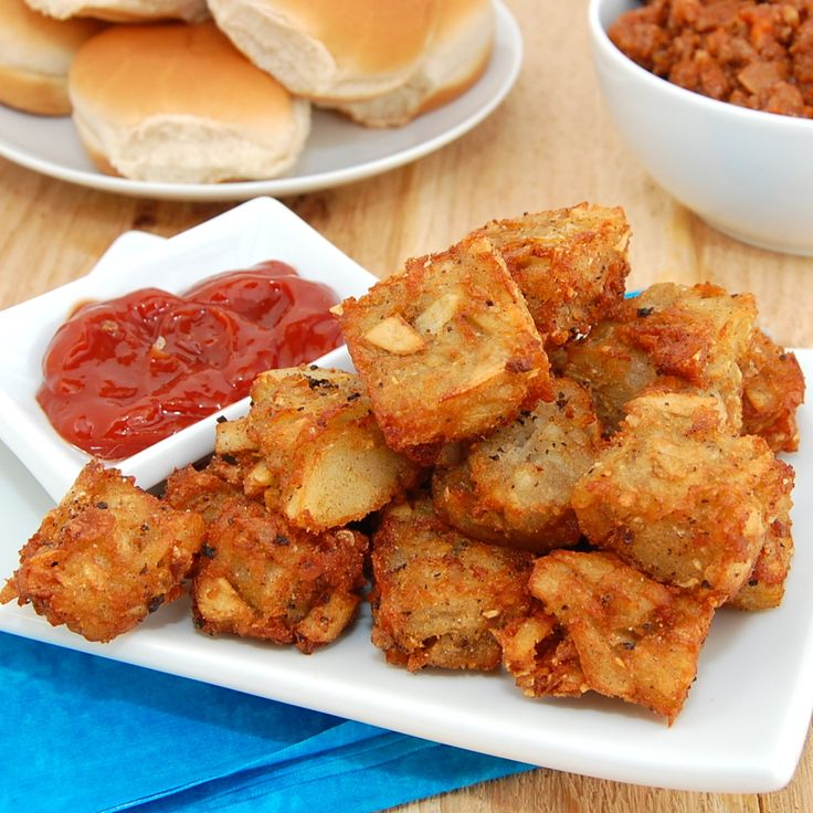More like this: tater tots , crispy potatoes and homemade tater tots .