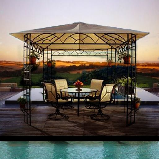 Replacement Canopy For Backyard Creations Gazebo : Sun Gazebo Replacement Canopy  backyard decorating  Pinterest