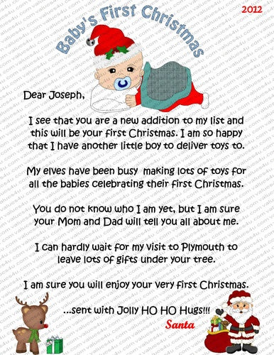 babies 1st christmas oh the weather outside is frightful With baby s 1st christmas santa letter
