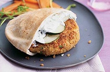 Greek-Style Quinoa Burgers — Punchfork | recipes to make | Pinterest