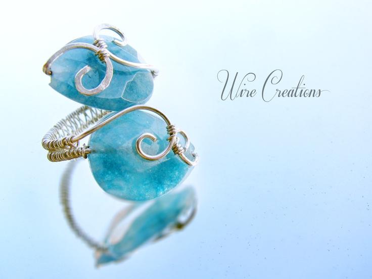 Anello con Angelite   make handmade jewels   Pinterest