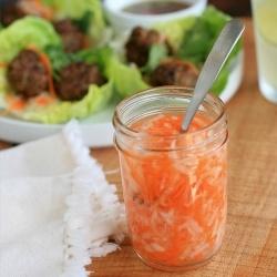 Do Chua- Vietnamese pickled carrots and daikon radish.