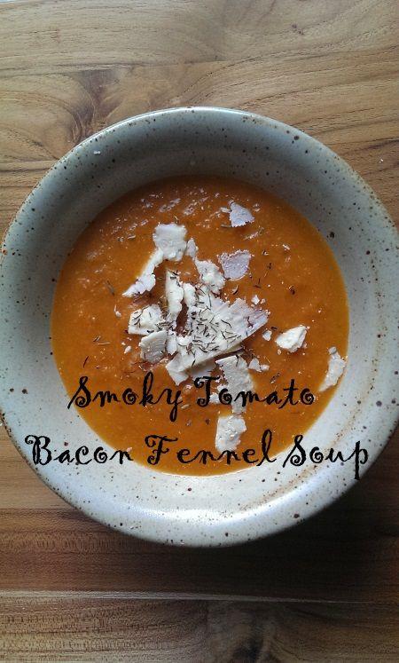 Smoky Tomato Bacon Fennel #Soup #fall #bacon