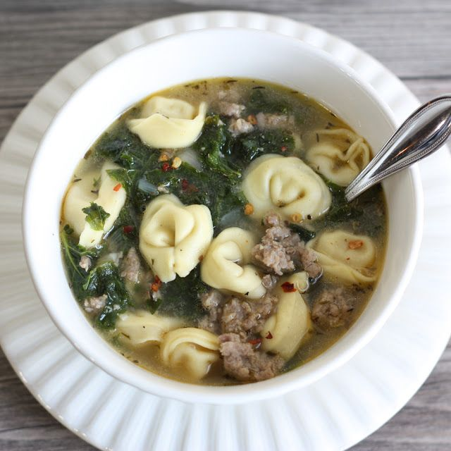 That Winsome Girl: Turkey Sausage Kale and Tortellini Soup