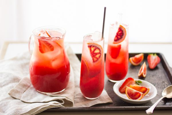 Strawberry Blood Orange Rum Punch | The Bar | Pinterest