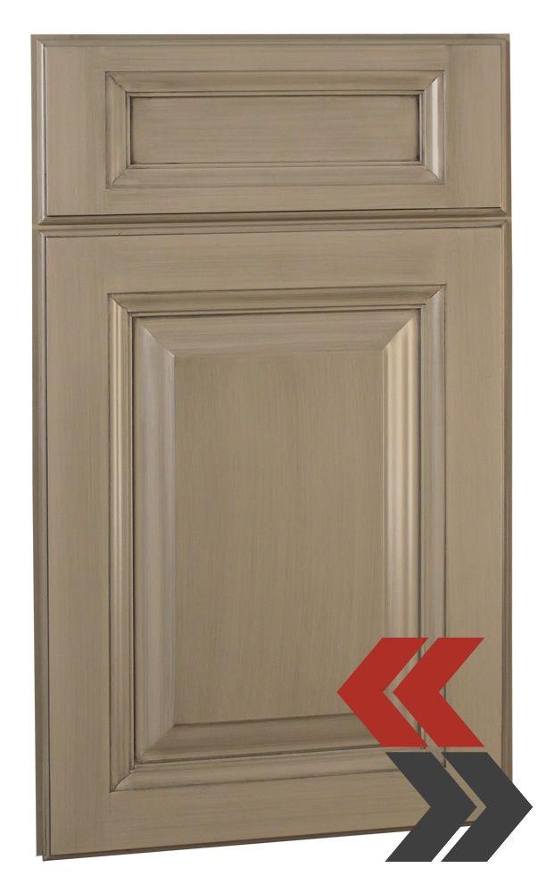 grey glazed kitchen cabinets  Brushed Gray Glaze Kitchen Cabinets