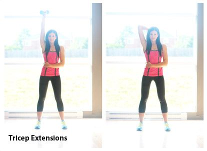 tricep extensions