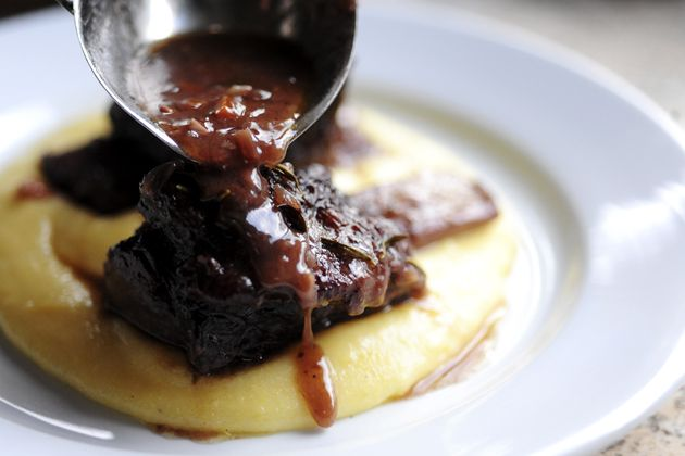 Braised Short Ribs with Creamy Goat Cheese Polenta by the Pioneer ...