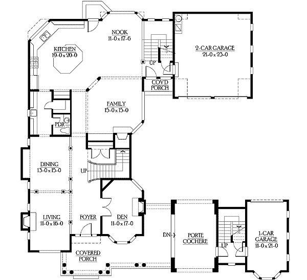 U Shaped Home Plan With Video Tour