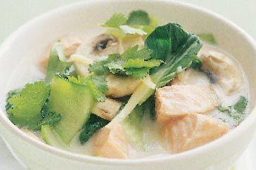 Salmon & coconut cream noodle soup | Cuisine (unsorted) | Pinterest