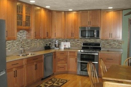 Mission Style Oak Kitchen Cabinets Home Decorating Ideas Pinterest