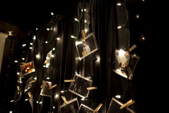 Christmas lights photo display