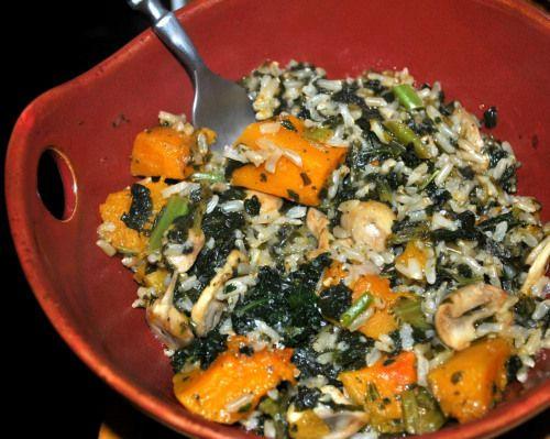 Butternut squash and Kale rice bowl | Food | Pinterest