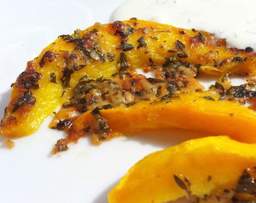 Roasted Pumpkin Wedges with Dill Sour Cream — Need some extra ideas ...