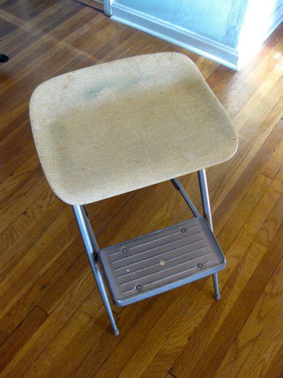 Mid Century Folding Step Stool Chair Samsonite Metal Step Stool M…