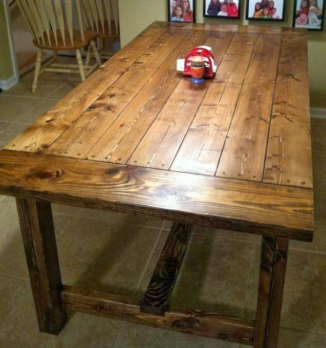 Diy farmhouse table country chic pinterest for New build farmhouse