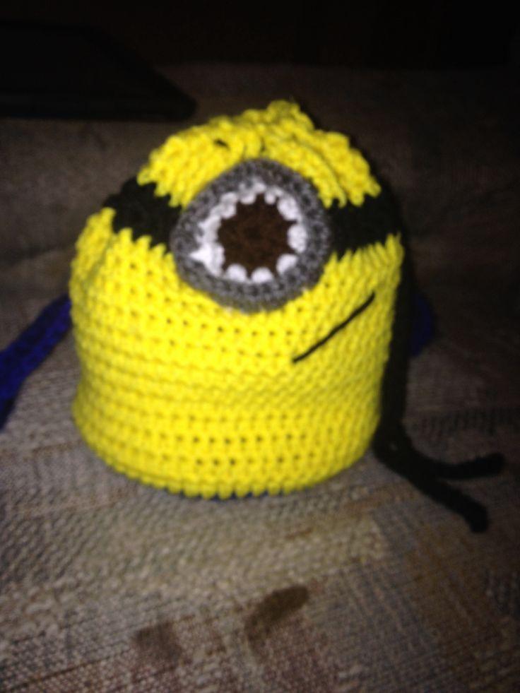 Crochet Minion Bag Pattern : Crocheted minion backpack I made Crochet Thomas the ...