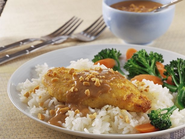 Thai Chicken with Spicy Peanut Sauce...incredibly easy and delicious.