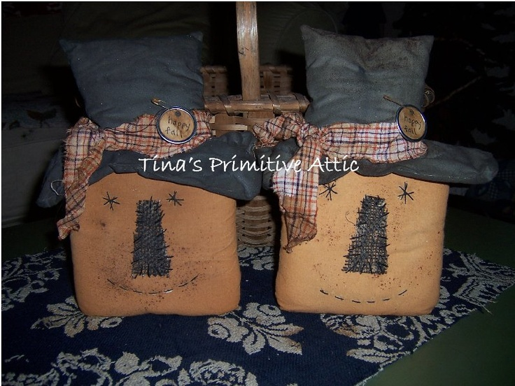 $14 ea - Primitive Pumpkin Head.  Made to order.   You can find all my offerings at: https://www.facebook.com/tinasprimitive.attic?sk=photos