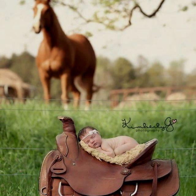 Newborn western style photo