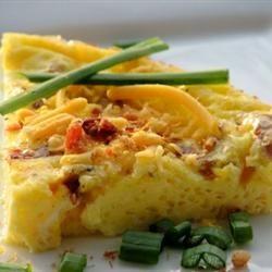 Bacon Cheese Frittata | Breakfast Recipes | Pinterest