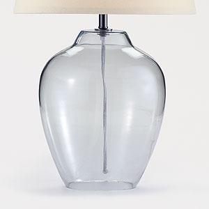 clear glass table lamp base. Black Bedroom Furniture Sets. Home Design Ideas