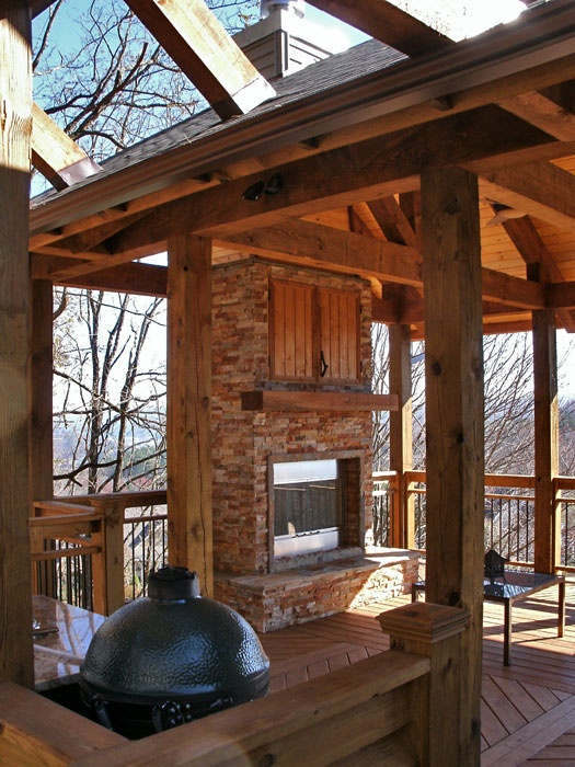 Pin by kristen koenigsdorf on 2014 home update projects for Covered patio with fireplace