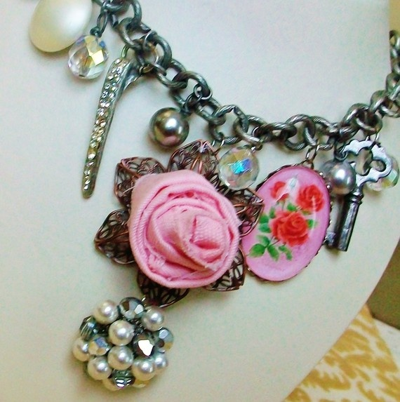Such a COOL Spring necklace! Vintage parts, I love!