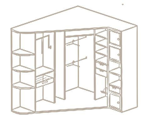 Встроенный угловой шкаф купе в прихожую своими руками