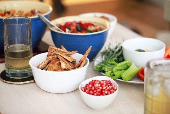 Easy Herb Baked Pita Chips | Snacks | Pinterest