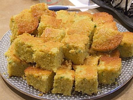 This Green Chile Cornbread recipe is perfect for serving with chili.