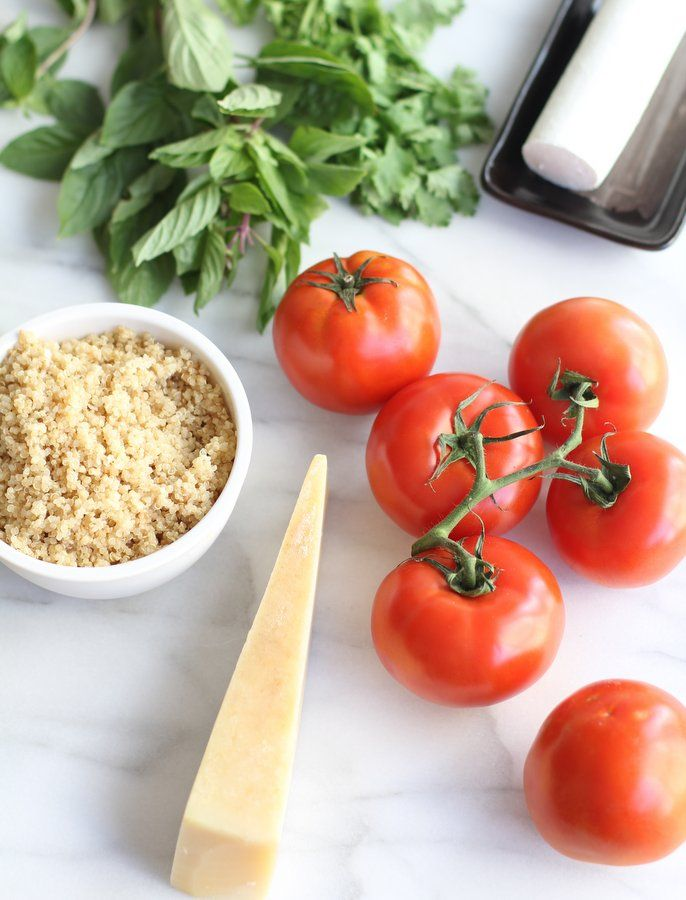 Quinoa and Goat Cheese Stuffed Tomatoes // Filled with quinoa and ...